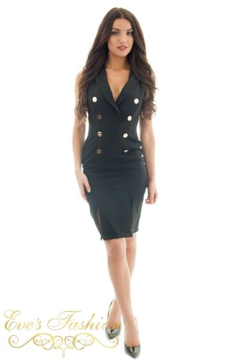Eve Exclusive Vivi Blazer Dress Black