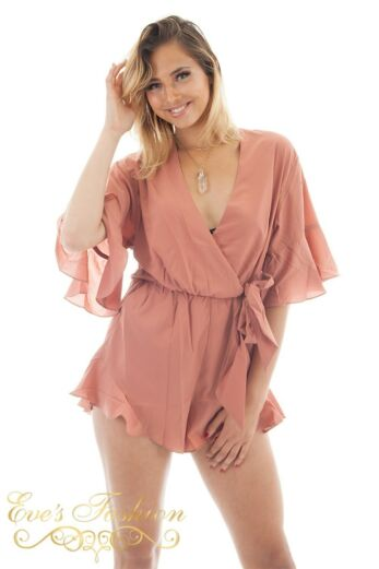 RUNAWAY Laguna Playsuit Bronze Close Up