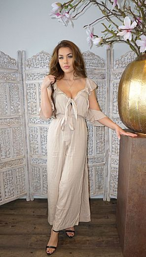 Sahara Jumpsuit Long Beige