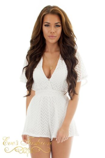 RUNAWAY Salt & Pepper Jumpsuit White Close Up Front