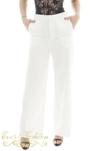 Eve Exclusive Jaimy Luxury Pants White Close Front