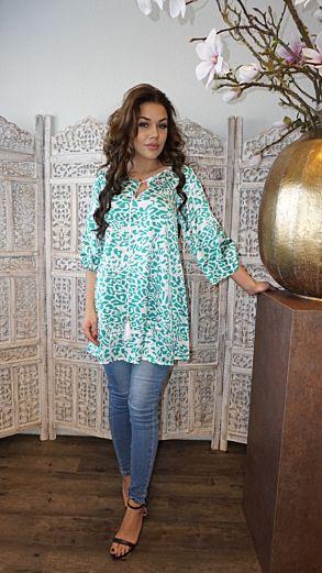 Devi Tunic Leopard Green