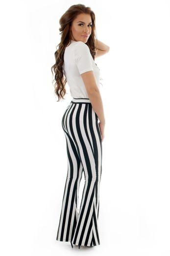 Stella Striped Flare Pants