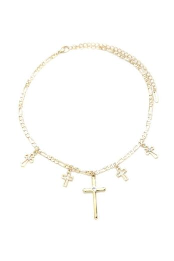 Ettika Multi Cross Necklace Gold Still