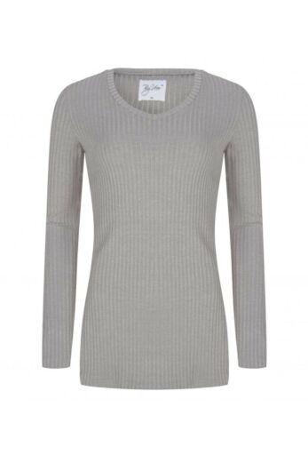 V-Neck Sweater Light Grey Front