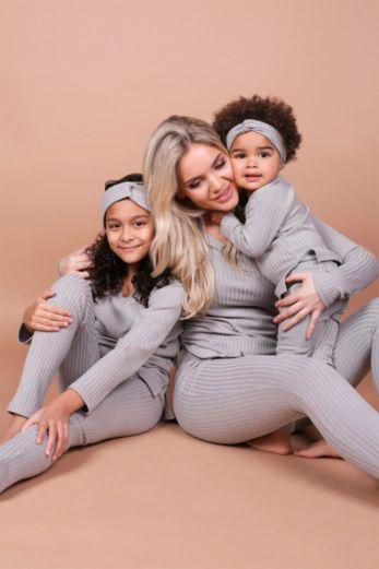Kids V-Neck Sweater Light Grey