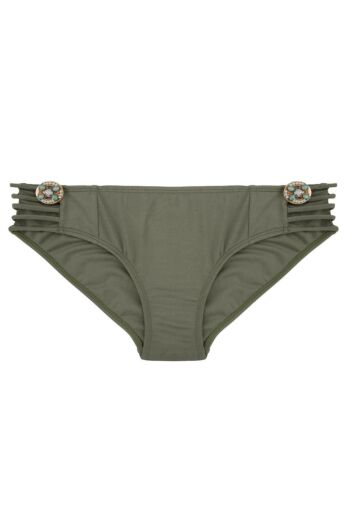 Boho Bikini Bottom Fancy Olive