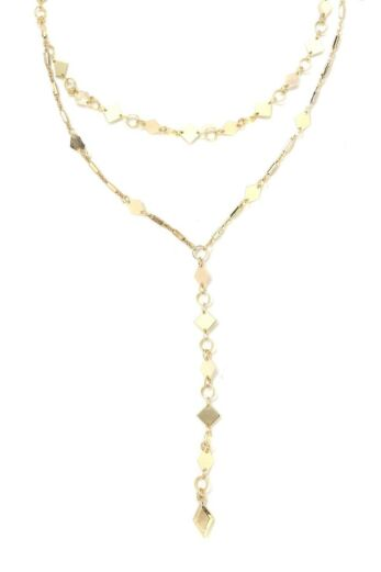 Seek and Found Drop Choker Set Gold Still
