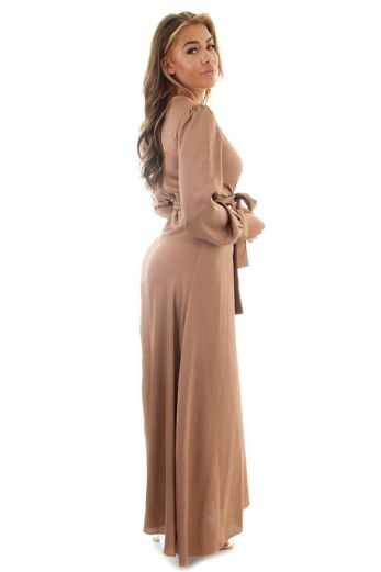 Venice Satin Dress Bronze