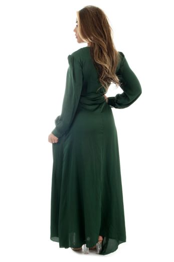 Venice Satin Dress Royal Green
