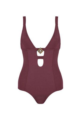 Boho Bikini Swimsuit Sublime Aubergine Front