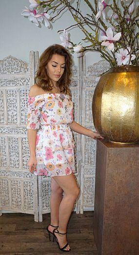 Katelyn Flower Skirt White