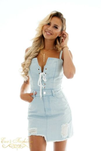 RUNAWAY Heart Racin Dress Denim Close