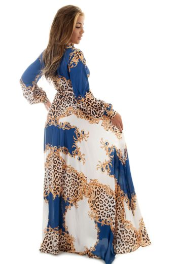 Florance Panther Dress Blue Long