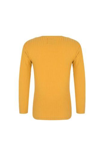 Kids V-Neck Sweater Yellow