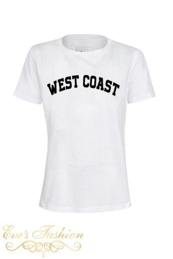 West Coast Tee White