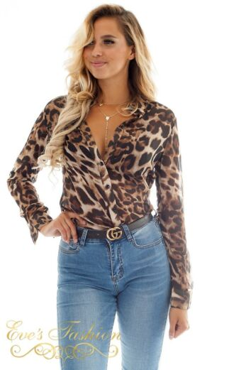 Jacky Luxury Steffie Leopard Blouse close