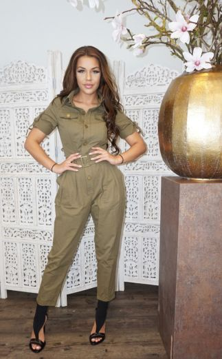 Work It Jumpsuit Khaki