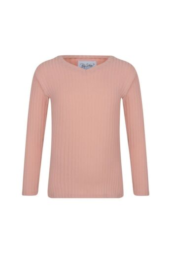 By Veer Kids V-Neck Sweater Powder Pink Front
