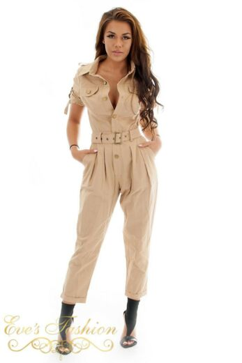 Work It Jumpsuit Nude