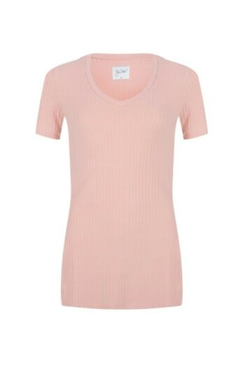 By Veer V-Neck Tshirt Pink Front