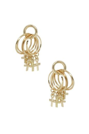 Best Of Best Cross Earrings In Gold