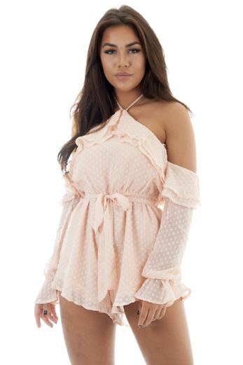 Runaway the Label Lighthearted Playsuit Pink