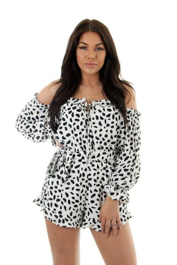 RUNAWAY Bedrock Playsuit White Close