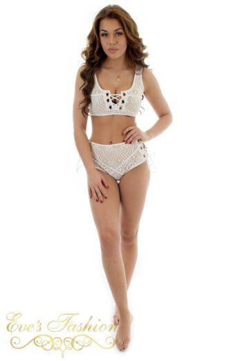 Eve Genevieve Bikini White Back Front