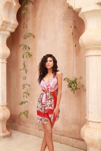 Twist Cami Dress Print