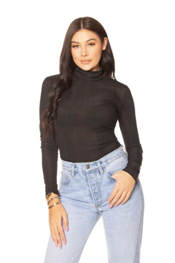 Stretch Turtle Neck Top