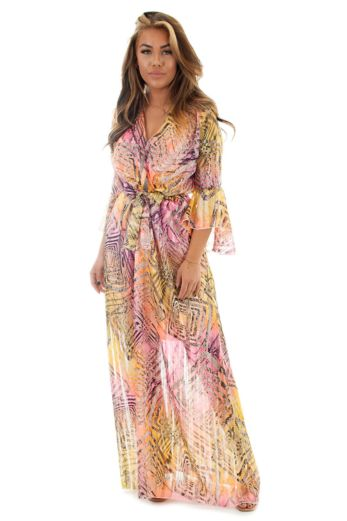 Eve Costa Rica Maxidress Pink Front