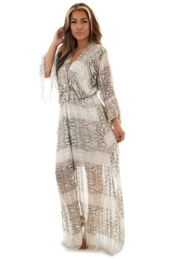 Eve Costa Rica Maxidress Snake Front