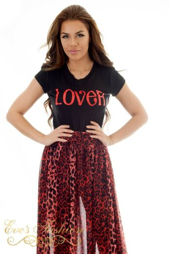 Eve Lover Tee Black/Red Front