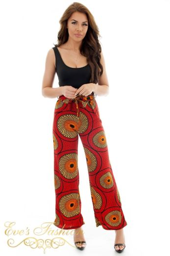 Eve Africa Safiyah Wide Pants Red Front
