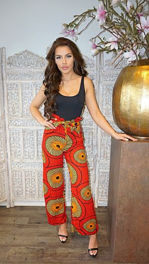 Africa Safiyah Wide Pants Red