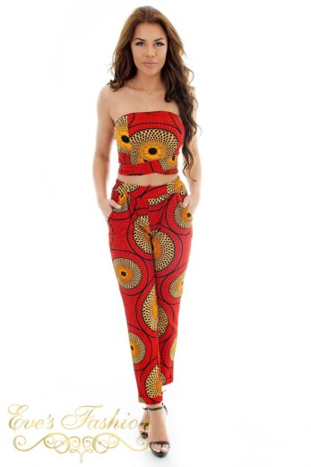 Eve Africa Safiyah Legging Red Front