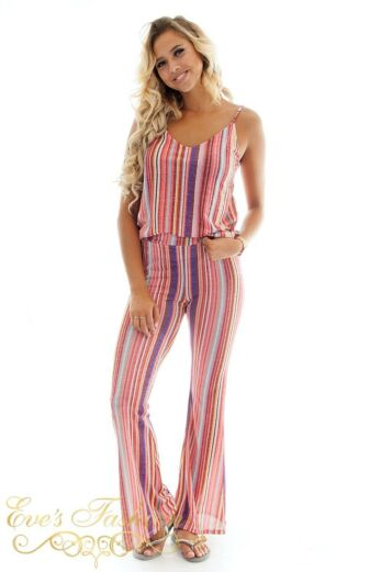 Eve Kristi Striped Suit Pink front
