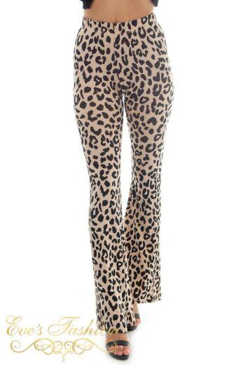 Leopard Flare Pants Light