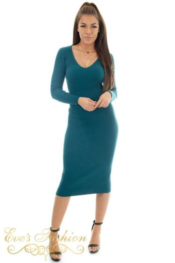 Eve Comfy Doll Dress Ocean Blue front