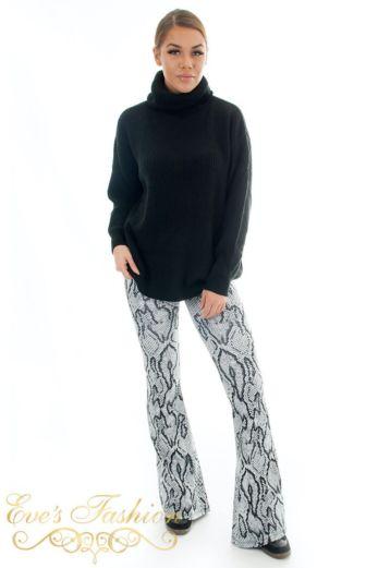 Flare Pants Snake Grey