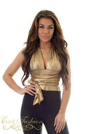 Eve Sahara Wrap Body Gold Front Close
