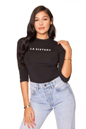LA Sisters Long Sleeve Babygirl Tee Yellow
