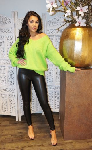 V Sweater Neon Green