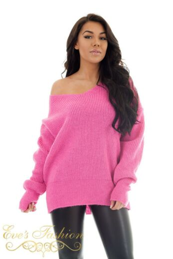 Eve V Sweater Neon Green Close
