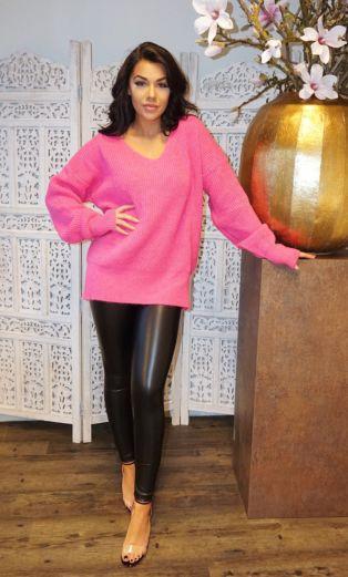 V Sweater Pink