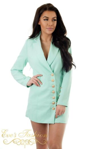 Eve Kate Blazer Dress Mint Close