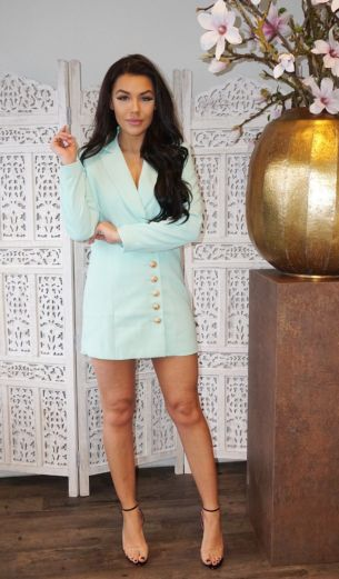 Kate Blazer Dress Mint
