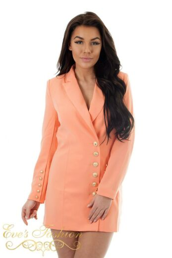 Eve Kate Blazer Dress Peach Close