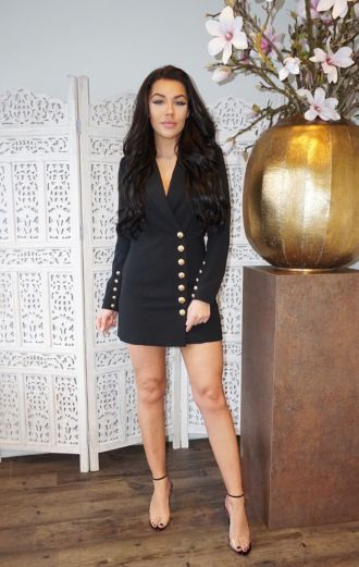 Kate Blazer Dress Black